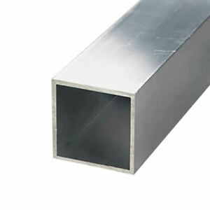 6063 t52 Aluminum Square Tube 1 1 4 X 1 1 4 X 1 16 Wall X 48 Long 3 Pack