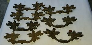 Vintage Brass French Provincial Drawer Pulls