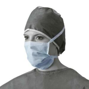 Case Of 300 Medline Surgical Face Mask Horizontal Face Mask W Ties Non27600