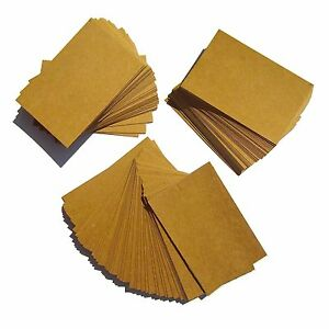 1000 Kraft Blank Business Cards 270gsm Stamp Write Brown Recycled Krft