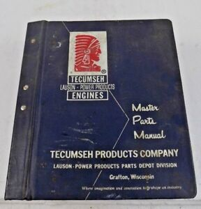 Tecumseh Lauson Power Products Engines Master Parts Manual 60 s