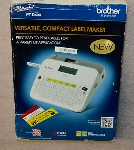 Brother P touch Pt d400 Versatile Compact Label Maker New Open Box