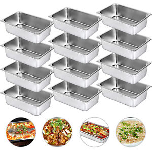 Steam Table Pans Bain Marie 12 Pack 21 7 Quart Hotel Buffet Pans Table Food Pan