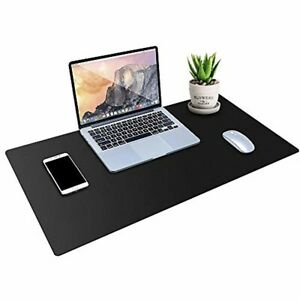 Desk Pad Protector Pu Leather Desk Mat Blotters Black Laptop Mat For Office ho