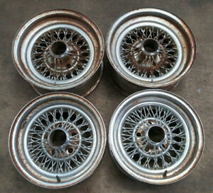 15x7 14x7 Pacer Appliance Wire Wheels Vintage Hotrod Streetrod Ford Chevy J15569
