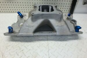 Chevrolet 10051103 Sbc Bow Tie Intake Manifold Modified Sprint Car Imca Wissota