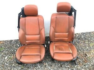 01 06 Bmw E46 M3 Convertible Original Heated Cinnamon Interior Front Seats