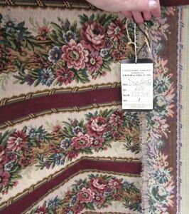 Antique New Upholstery Pillo Bag Fabric Dorchester Red Textile Fabric Associates