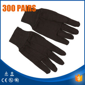 300 Pairs 25 Dozen Brown Jersey Work Gloves Cotton 8oz Working Gloves