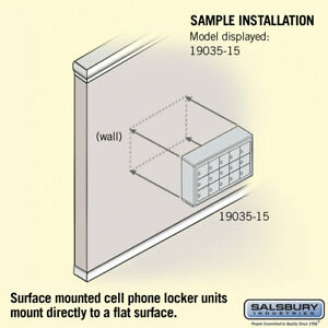 Salsbury Industries 15 Door Surface Cell Phone Locker