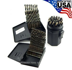 Norseman 115pc Hi moly M7 Drill Bit Set Number Letter 1 16 To 1 2 Usa 3 Index