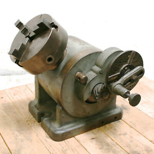 L w Chuck 6 Dividing Head With Cushman Chuck And Tailstock