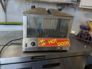 Adcraft Hds 1000w Countertop Hot Dog Steamer Bun Warmer
