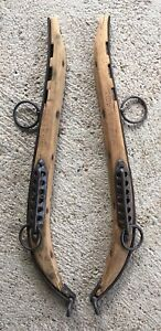 Antique Horse Mule Collar Wood Cast Iron 25 Hand Forged
