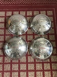 1946 Lincoln All Models Set Of Four 12 Oem Hubcaps
