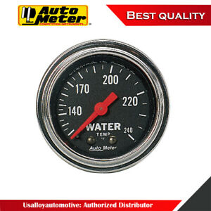Autometer 2432 Traditional Chrome Mechanical Water Temperature Gauge