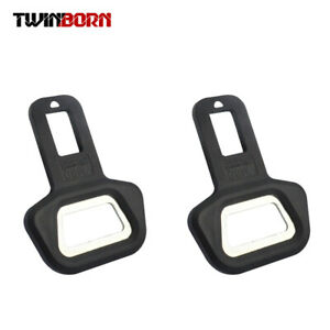 2pcs Universal Carbon Fiber Car Safety Seat Belt Buckle Alarm Stopper Clip Clamp