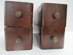 Vintage Singer Treadle Sewing Machine Drawers With Metal Round Pulls 4 Drawers