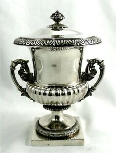 Sterling Silver Superb Big French Urn Or Candies Pot Excellent Condition 810 G