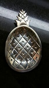 Tiffany Sterling Silver Pineapple Dish St 74 Weighs 98 Grams