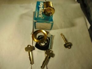 1 Medeco Rim Locks Brigth Brass With Use Core 2 Keys And 1 Core Locksmith