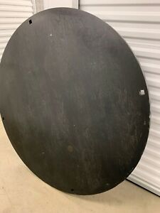 Designer Furniture 60 Round Wood Table Top Only Black Finish Modern
