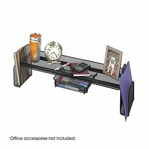 Desk Holder Organizer Mesh W Drawer Side Shelves Mesh Supplies Book Display New