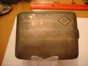 Vintage Sterling Silver Elgin Usa Cigarette Case