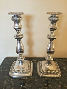 Gorham Sterling Candlesticks 1940 Georgian English Reproduction 41636 Weighted