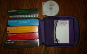 Pantone Guide Set Of 5 With Case Color