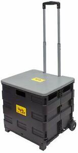 Wheeled Collapsible Handcart 250lbs Capacity Utility Cart Carrier Storage New