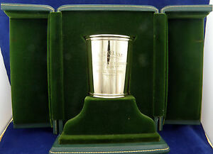 Rare 1970 Keeneland Race Track 14k Yellow Gold Presidential Mint Julep Cup Wmono