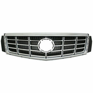 For 2013 2017 Cadillac Xts Front Grille Assembly Chrome Black Standard