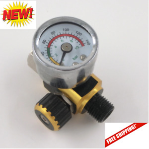 Air Control Pressure Gauge Compressor Regulator For Devilbiss Iwata Spray Guns