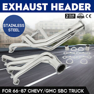 Top Stainless Steel Exhaust Header 66 95 Chevy gmc Sbc Pickup Truck Suv Made