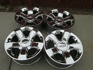 20 Chevy Gmc 1500 Factory Chrome Wheels Rims