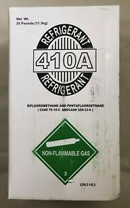 25 Lbs Of R410a R 410a Refrigerant Unopen Factory Sealed Made In The Usa