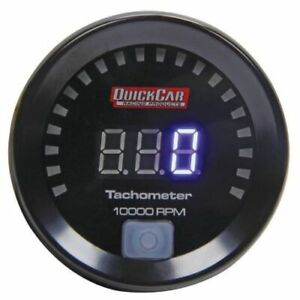 Quickcar Racing Products 67 001 2 1 6 Small Diameter Digital Tachometer