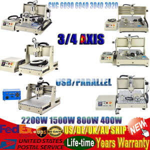 3 4 Axis Cnc Router Engraver 3040 6040 6090 Woodworking Metal Mill Cut Machine