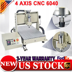 3 4axis 1500w Cnc Router Engraver Milling Drilling Machine 6040 Controller