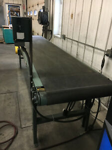 11 X 24 Hytrol Brand Belt Power Conveyor 1 Hp 3ph Motor With Variable Speed