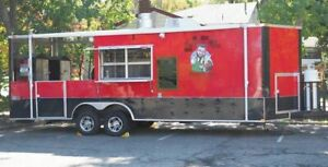 2016 8 5 X 24 Bbq Concession Trailer W Porch And Truck For Sale In Florida