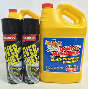 Doctor Mecanico Multi purpose Cleaner 3 Units Ever wet Tire Shine 4 Units