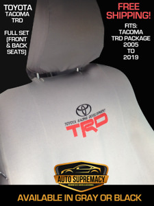 Tacoma Trd Premium Seat Covers All Seats Included Gray Or Black Free Shipping