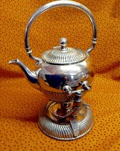 Victorian Tilting Tea Pot On Stand With Burner 1890 S