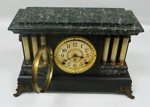 Seth Thomas 6 Column Adamantine Mantel Clock Pristine Original Condition