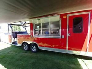 2015 Cbtl Cw8 8 5 X 28 Barbecue Food Concession Trailer With Porch For Sale