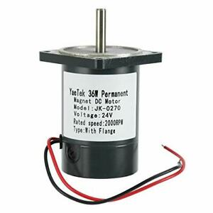 24v Dc Motor With Flange 36w 2000rpm High Speed Large Torque Motor us Stock