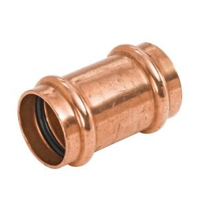 Lot Of 10 1 2 Propress Copper Coupling With No Stops Ppcl0012