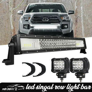 30 Led Light Bar W wiring For 2005 2018 Toyota Tacoma Front Grille Bumper Mount